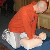 Student learning how to do Cardio Pulmonary Resuscitation