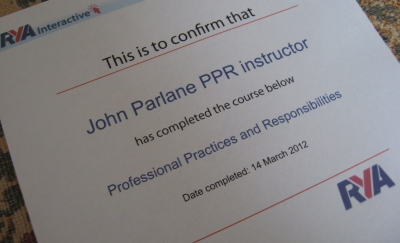 Rya professional practices responsibilities online course bay ppr certificate yelopaper Gallery
